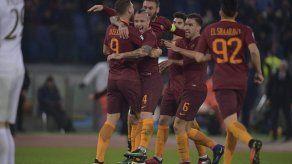 La Roma gana 1-0 al Milan y pone el punto de mira en la Juventus
