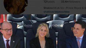 Shakira presenta su última iniciativa solidaria en el Camp Nou