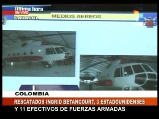Rescatan a Betancourt y a 3 estadounidenses de las FARC