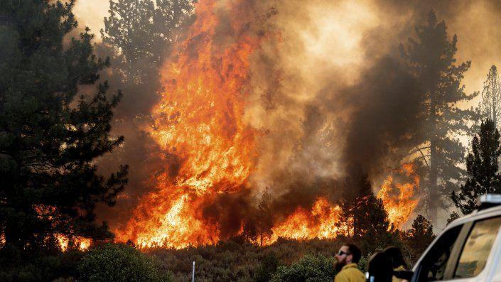 El viernes, los vientos de 33 kilómetros por hora (20 millas por hora) se combinaron con el calor abrasador para provocar incendios que consumieron arbustos, maleza y vegetación.