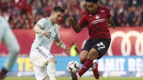 Bayern Múnich deja puntos en Núremberg con empate 1-1