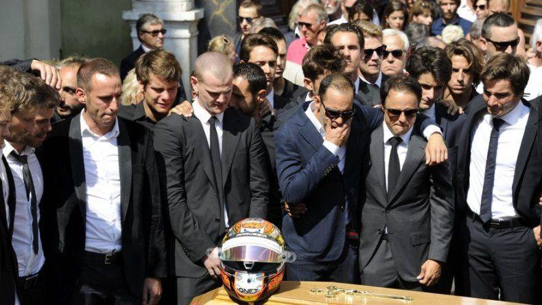 Multitudinario funeral en Niza para despedir a Jules Bianchi