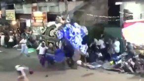 Elefante lesiona a 18 en procesión budista en Sri Lanka