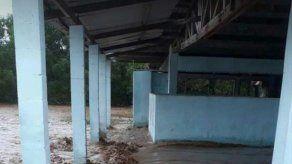 Sector de Las Cañas de Tonosí afectado en medio de inundaciones