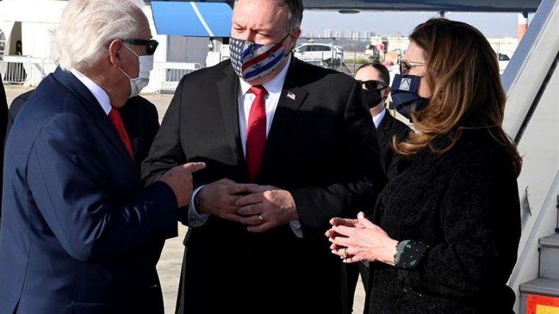 Pompeo llega Israel para tratar Irán y la normalización con países árabes