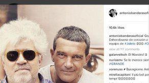 Antonio Banderas felicita a Almodóvar por la elección de Julieta