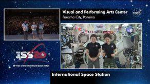 Astronautas de la ISS conversaron con estudiantes de International School of Panama