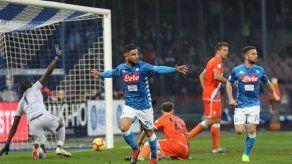Napoli vence al Spal 1-0 previo a choque con Inter