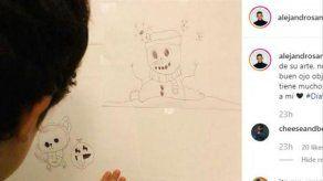 El hijo de Alejandro Sanz y Raquel Perera apunta maneras como dibujante