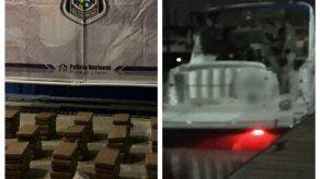 Decomisan 155 paquetes de presunta droga dentro de yate en Bahía de Panamá