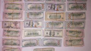Decomisan más de 200 mil dólares en efectivo en Chiriquí
