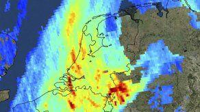 Satélite muestra contaminantes atmosféricos en la Tierra
