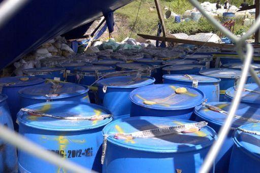 Interpol confisca en Latinoamérica 360 toneladas de químicos para drogas