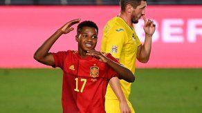 Ansu Fati se convierte en el goleador más joven de selección española