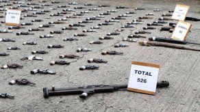 Destruyen 526 armas de fuego decomisadas en operativos en Panamá