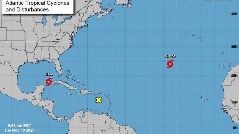 Se forma tormenta Theta en el Atlántico, rompiendo un récord
