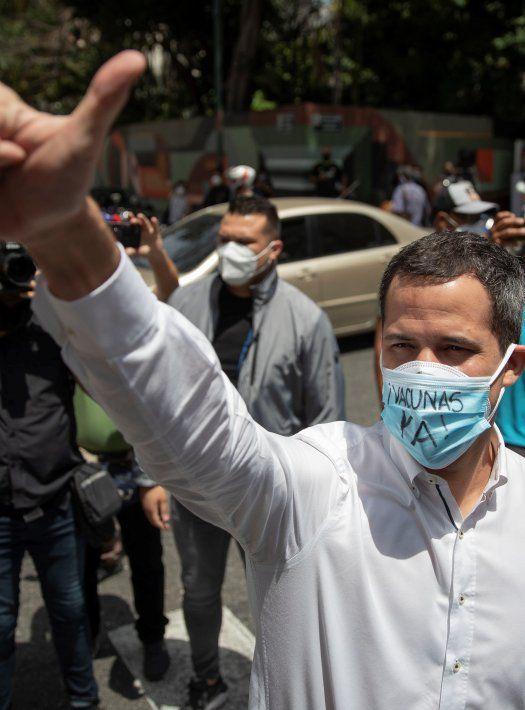 El líder opositor Juan Guaidó.