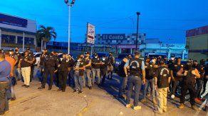 Personal de la Sección de Atención Primaria de la Fiscalía Regional de Panamá Oeste y unidades de la Policía Nacional.
