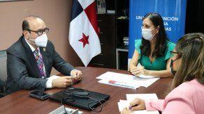 El Defensor del Pueblo, Eduardo Leblanc, se reunió con la directora de la Senniaf, Graciela Mauad.