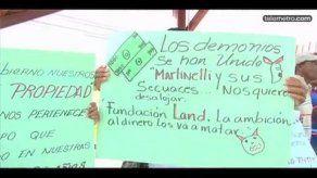Moradores de Playa Santa Clara protestaron en rechazo a un desalojo