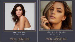 Paulina Vega y Demi-Leigh Tebow formarán parte de las analistas en la edición 69 del Miss Universo