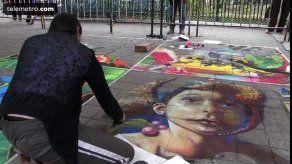 Pinturas en tercera dimensión dejan huella en calles del sureste mexicano
