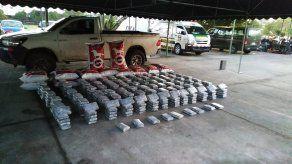 La supuesta droga incautada en Paso Canoas fue incautada en la madrugada de este sábado.