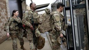 Soldados enviados a DC por protestas recibieron bayonetas