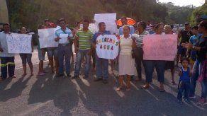 Moradores de Rio Gatún en Colón protestaron por falta de agua