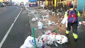 Distrito de La Chorrera repleto de basura tras desfiles patrios