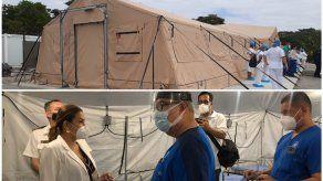 Inauguran hospital de campaña contiguo a la Policlínica Dr. Santiago Barraza de La Chorrera