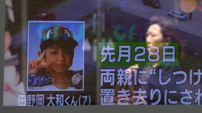Japón elogia a niño que sobrevivió abandonado en un bosque