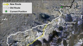 El robot Curiosity de la NASA se dispone a subir el monte Sharp de Marte