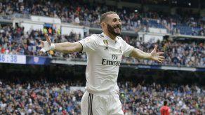 Benzema logra triplete; Real Madrid golea a Bilbao