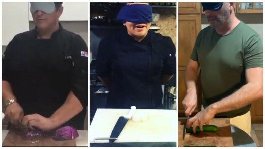 Los chefs se unen al reto Blind cutting challenge en instagram