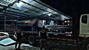 Policía Nacional recupera unas 164 hojas de zinc relacionadas a una denuncia de estafa
