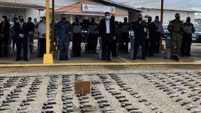 Autoridades destruyen 720 armas de fuego vinculadas a hechos delictivos y más de 5 mil municiones