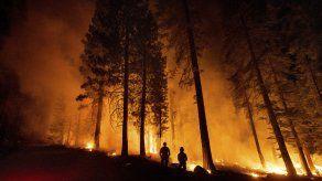 El incendio, que es atacado por los bomberos, ha arrasado con 1.673 kilómetros cuadrados (646 millas cuadradas) desde que estalló el 6 de julio en el bosque nacional de Fremont-Winema.