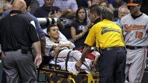 Manny Machado sufre lesión en la pierna izquierda