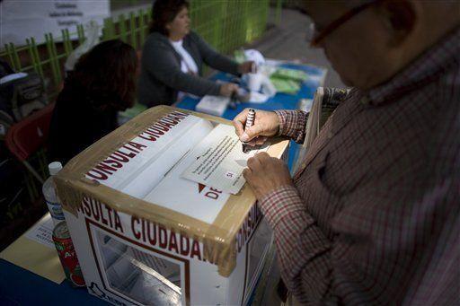 Mexicanos dicen no a reforma energética en consulta