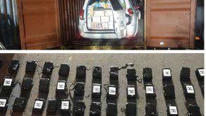 Decomisan maletines con 89 paquetes de presunta droga dentro de contenedor destinado a Italia