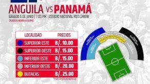 FEPAFUT lanza a la venta boletos para Anguila vs Panamá