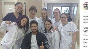 Maxi Iglesias se recupera favorablemente de su lesión de rodilla tras pasar por quirófano