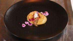Ceviche de plátano con pescado - Sara Chen