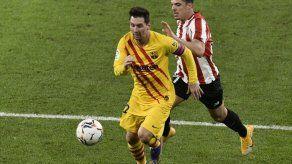 Doblete de Messi azuza al Barcelona en Bilbao