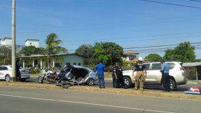 Dos heridos tras accidente de tránsito en Santiago