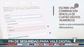 PIN de seguridad del Vale Digitalvisibility