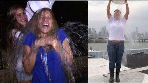 Jenia Nenzen se tira su cubeta de agua fría