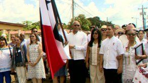 Mariano Rivera fue el abanderado de la celebración de los 110 años de fundación de Puerto Caimito