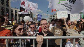 Manifestación por un internet libre en Moscú